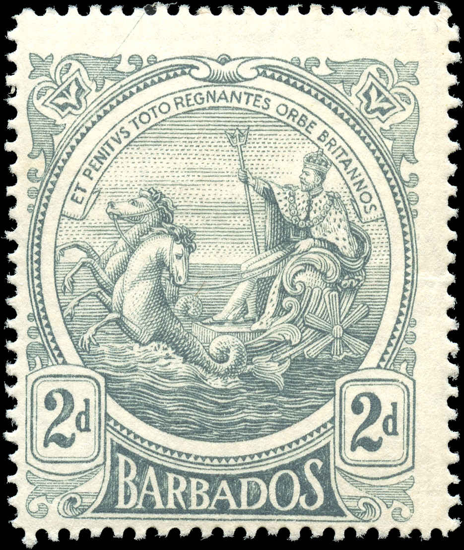 Barbados Stamp, Scott #130, F, MH