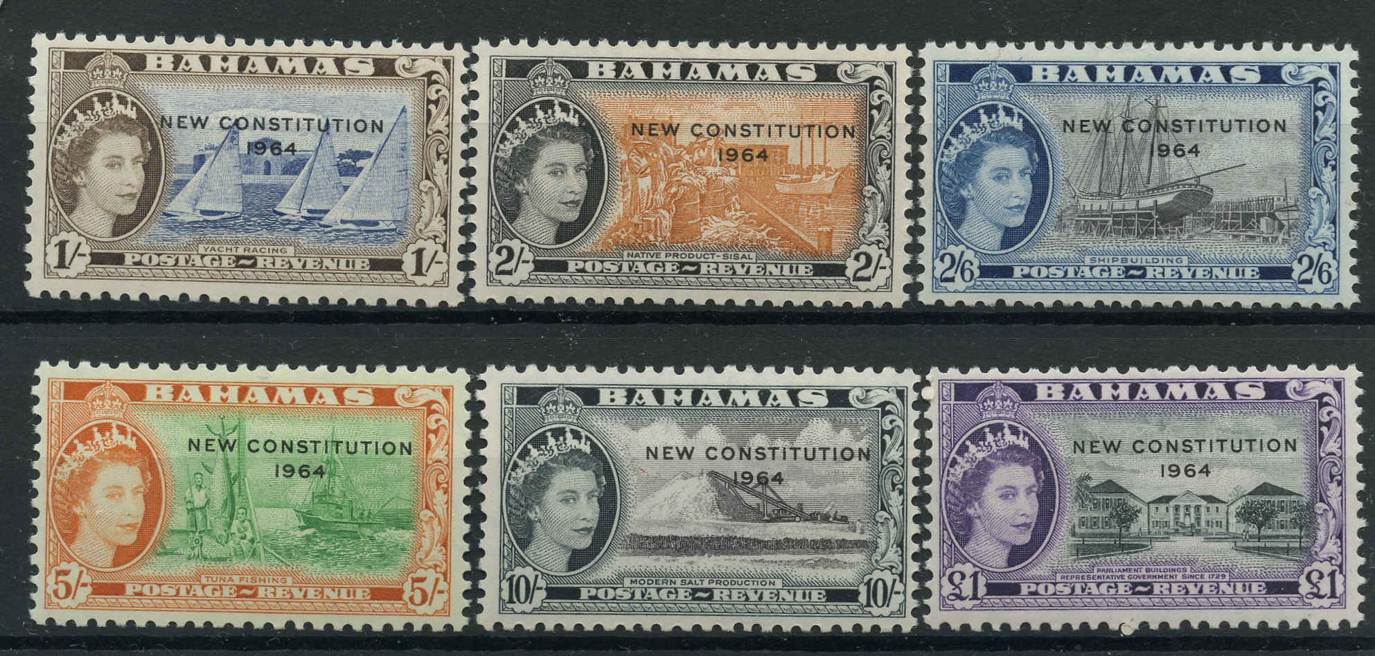 Bahamas Stamp, Scott #195-200, F+, MH