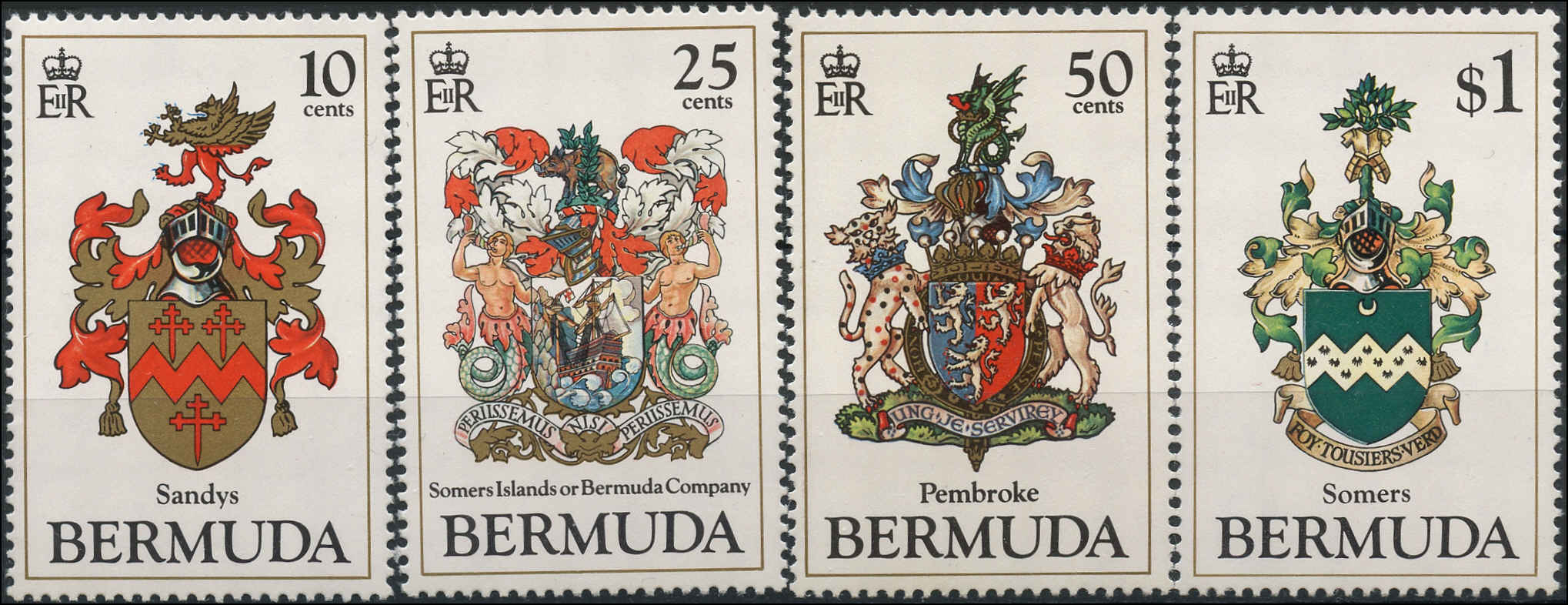 Bermuda Stamp, Scott #433-36, F-VF, MNH