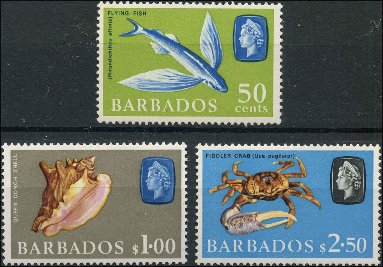 Barbados Stamp, Scott #278a-280a, F+, MH