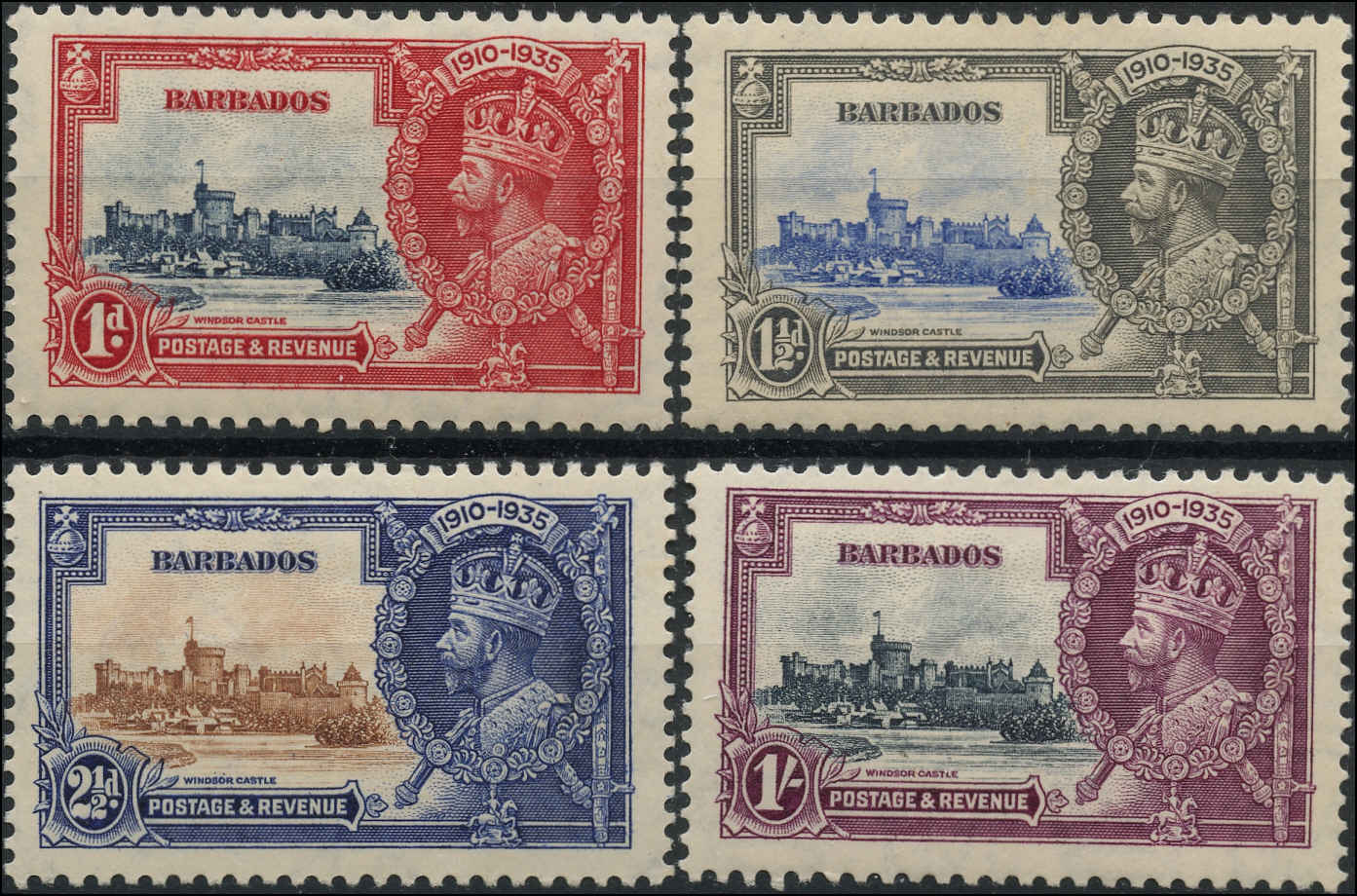 Barbados Stamp, Scott #186-189, F+, MH