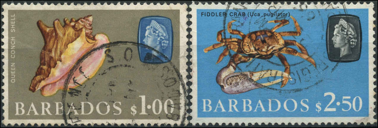 Barbados Stamp, Scott #279-80, F+/VF, Used
