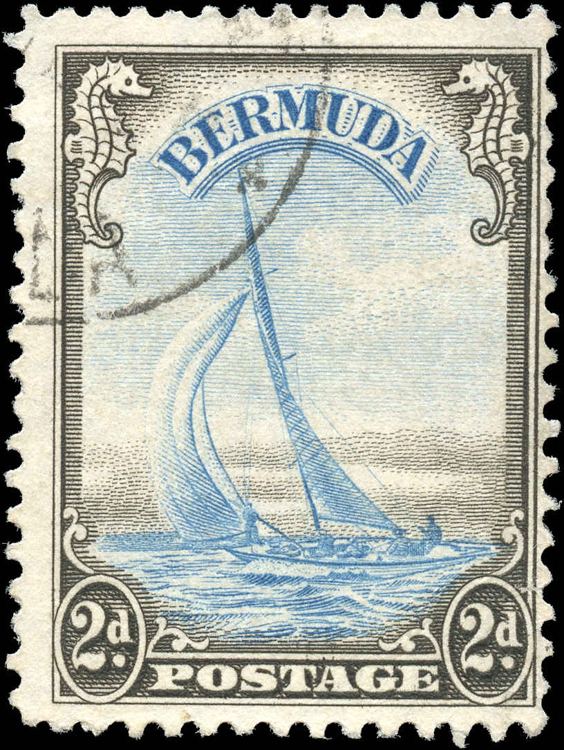 Bermuda Stamp, Scott #109, F, Used