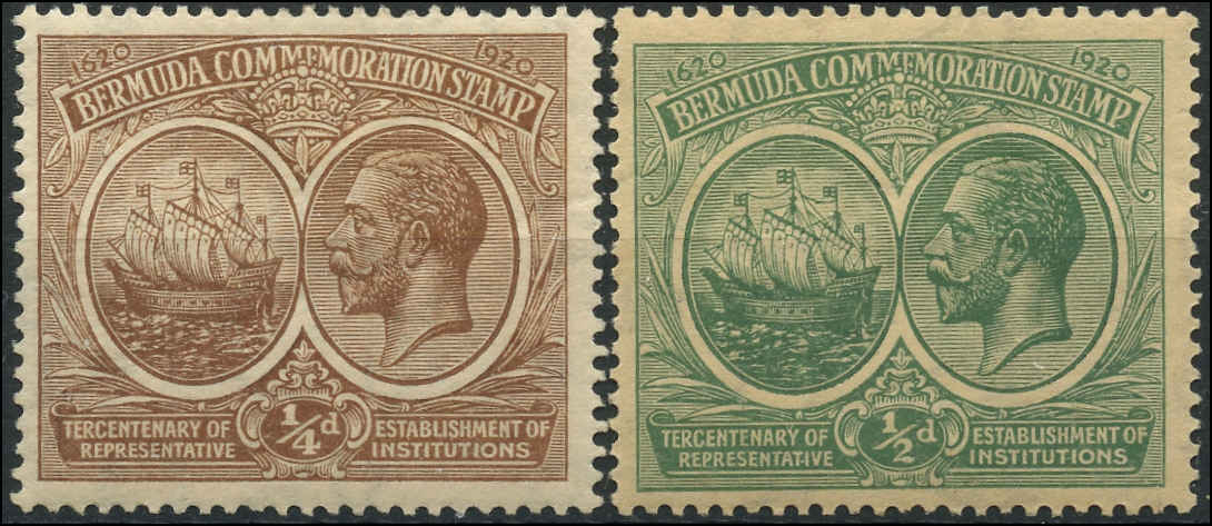 Bermuda Stamp, Scott ##55-56, F+, MH