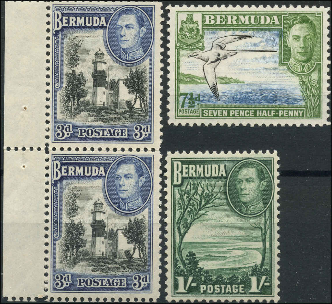 Bermuda Stamp, Scott #121-122, F+, MH