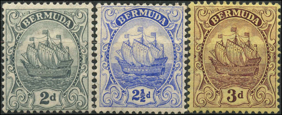 Bermuda Stamp, Scott ##43-45, F, MH