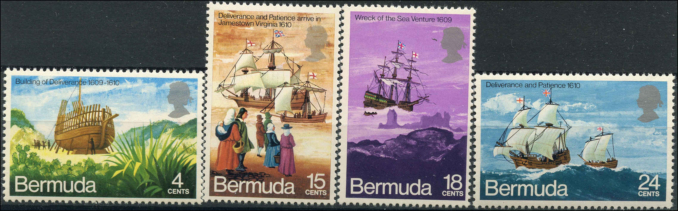 Bermuda Stamp, Scott #280-83, F+, MNH