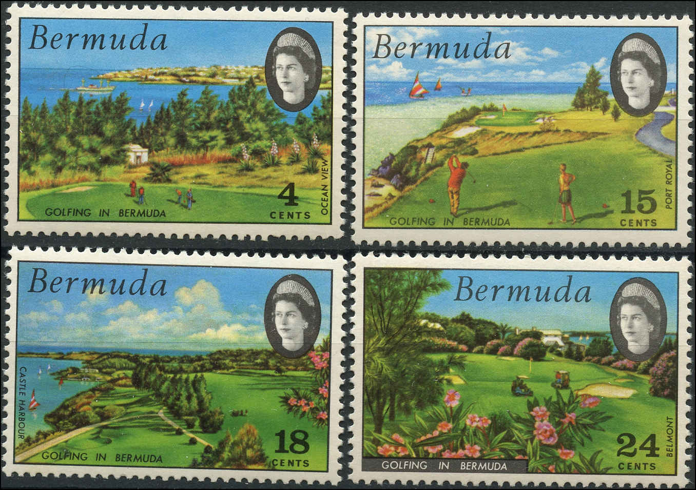 Bermuda Stamp, Scott #284-87, F+, MNH