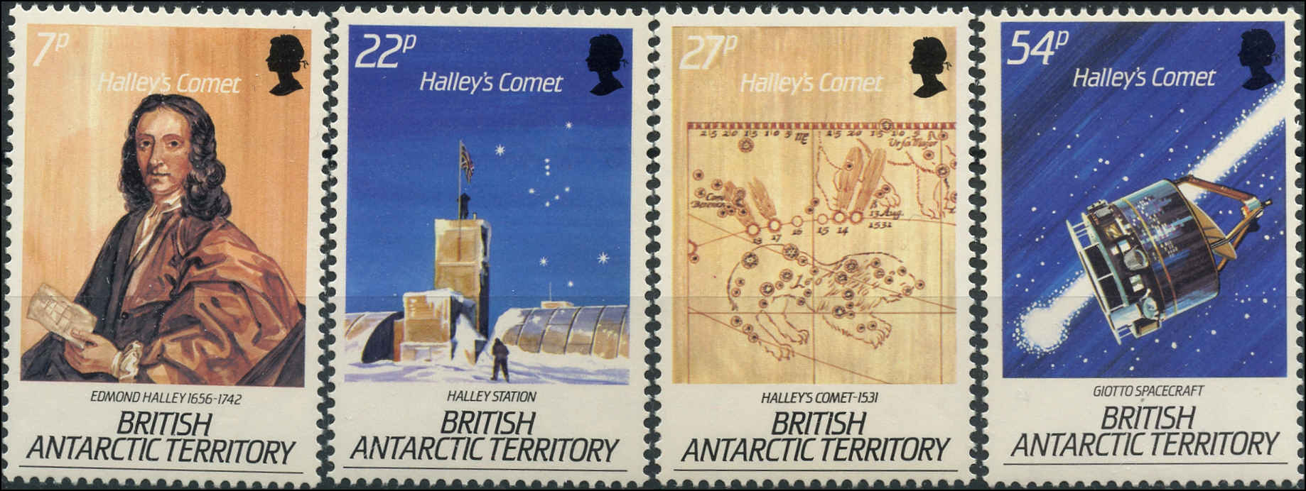 British Antarctic Terr, Scott #129-32, F+, MH
