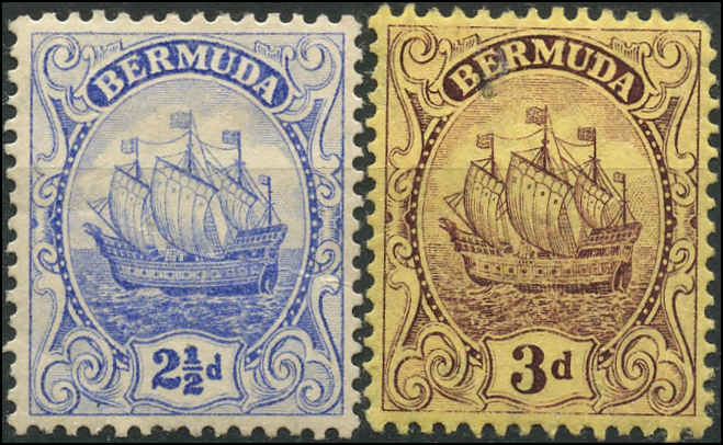 Bermuda Stamp, Scott ##44-45, F-VF, MH